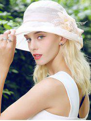 Floral Lacework Splicing Mesh Bucket Sun Hat