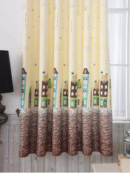 Star Tower Printed Window Curtain -