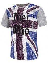 Graphic Distressed England Flag Print T-Shirt
