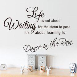 Life Proverb Wall Stickers For Bedrooms - BLACK