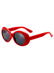 Anti UV Oval Retro Wrap Frame Sunglasses