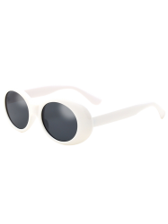 Anti UV Oval Retro Wrap Frame Sunglasses -
