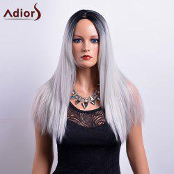 Adiors Long Centre Parting Ombre Straight Synthetic Wig