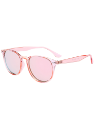 Street Snap UV Protection Mirrored Sunglasses - PINK FRAME+PINK LENS