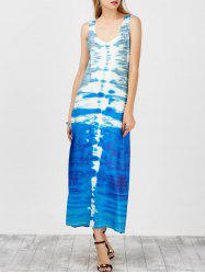 Maxi U Neck Tie Dye Tank Dress