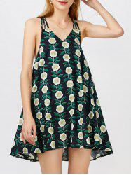 Floral Print Mini Swing Dress