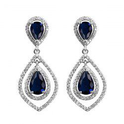 Teardrop Faux Crystal Rhinestone Drop Earrings