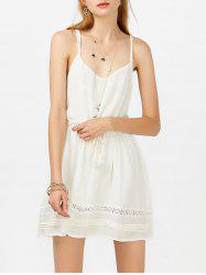 Tasseled Drawstring Slip Casual Summer Dress