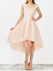 High Low Tea Length Wedding Guest Dress