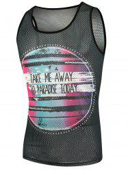 Mesh Graphic Tank Top