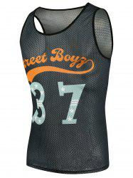 Graphic Basketball Mesh Tank Top