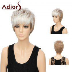 Adiors Short Layered Straight Side Bang Synthetic Wig