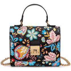 Metal Detail Print Handbag