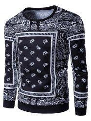 Long Sleeve Paisley Floral Graphic Vintage Sweatshirts