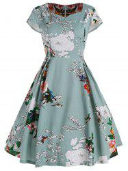 Plus Size Fit and Flare Floral Dress