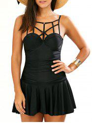 Strappy One Piece Dress Costume de bain - Noir
