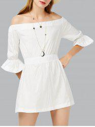 Off The Shoulder Short A Line Mini Dress