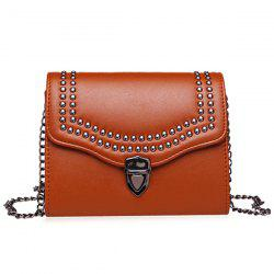 Push Lock Rivet Crossbody Bag