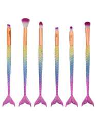 MAANGE 6 Pcs Mermaid Eye Makeup Brushes Set