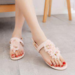 PU Leather Flowers Sandals