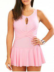 Cross Back Dress One-Piece Bathing Suit
