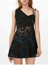 Sleeveless Sheer Lace Club Dress