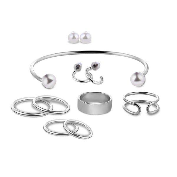 Discount Artificial Pearl Circle Jewelry Set