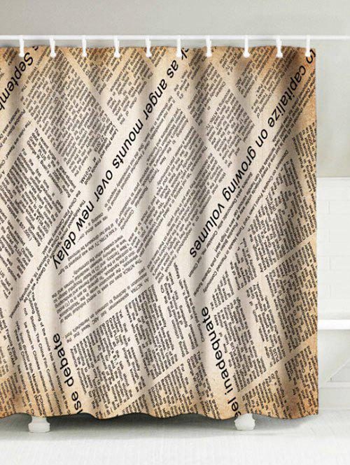 Buy Vintage English Newspaper Waterproof Polyester Shower Curtain
