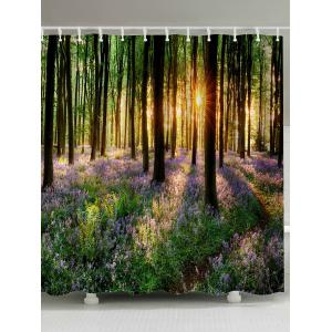 Waterproof Fabric Sunshine Forest Shower Curtain - Colormix - W71inch * L79inch