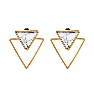 Vintage Rammel Triangle Ear Jackets - Golden - One-size