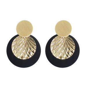 Disc Circle Drop Earrings