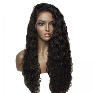 Towheaded Long Curly Synthetic Lace Front Wig - Natural Black 04a#
