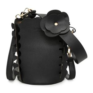 Scalloped Bucket Bag and Pouch Bag
