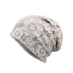 Striking Lace Breathable Floral Hat