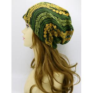 Lace Floral Layered Beanie -