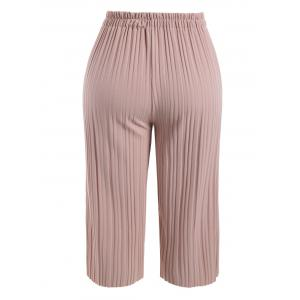 Plus Size Pleated Ankle Pants -