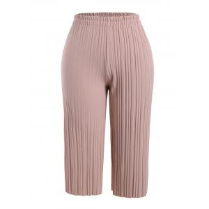 Plus Size Pleated Ankle Pants