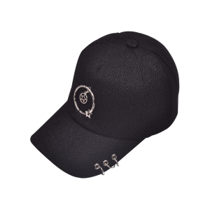 Metal Pentagram Circles Embellished Baseball Hat