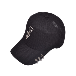 Metallic Double Triangle Circles Baseball Hat