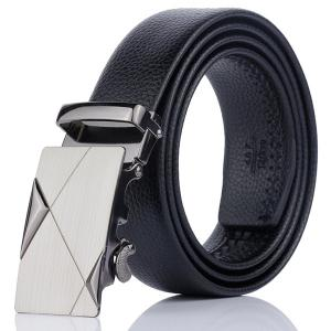 Alloy Automatic Buckle Triangle Line Embellished Belt