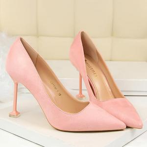 Strange Style Pointed Toe Pumps - PINK 38