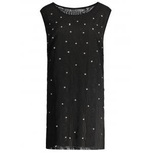 Plus Size Beaded Sleeveless Dress