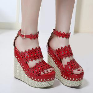 Hollow Out Weave Sandals -