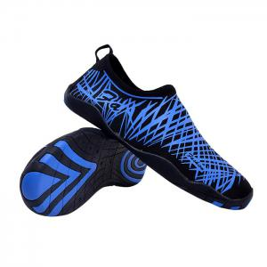 Outdoor Striped Breathable Skin Shoes - BLUE 39