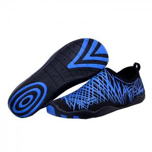 Outdoor Striped Breathable Skin Shoes - BLUE 35