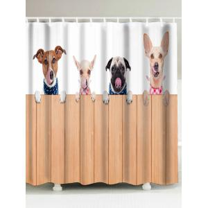 Dog Animal Extra Long Shower Curtain