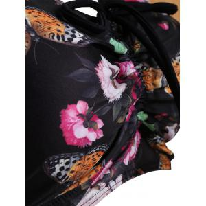 Padded Plus Size Butterfly Print Bating Suit -