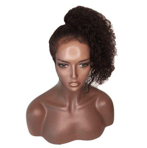 Discount Long Kinky Curly Lace Front Synthetic Wig - BLACK AND BROWN  Mobile