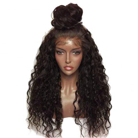 Hot Fluffy Curly Long Lace Frontal Synthetic Wig - BLACK AND BROWN  Mobile