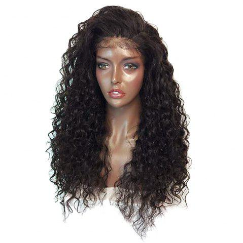 Affordable Fluffy Curly Long Lace Frontal Synthetic Wig - BLACK AND BROWN  Mobile